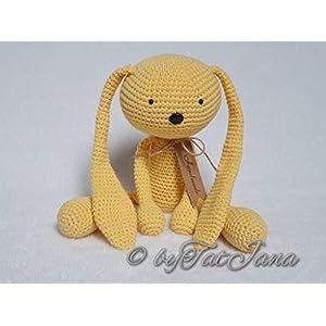 Baby Hase gehäkelt gelb