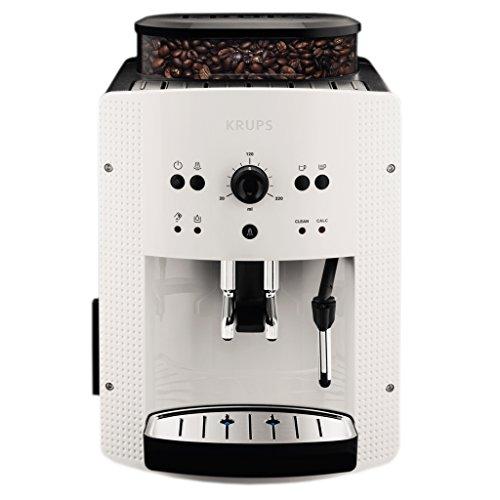 Krups EA810570 - Cafetera automática con 15 bares de presión, 3 niveles de intensidad de café, cantidad ajustable de 20 ml-220 ml, programa automático de limpieza y descalcificación, con molinillo