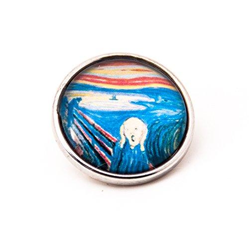 sekka jewelry® Click-Button Gemälde DER SCHREI von Edvard Munch - NF3126