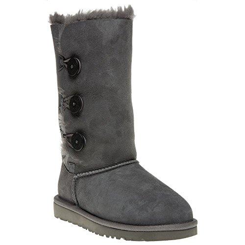 ugg-australia-bailey-button-triplet-grey-kids-boots-size-13-uk