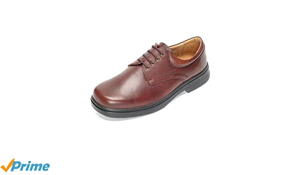 c717d03587b DB Shoes Shannon - Wide Fitting Plain Gibson Leather Shoes - Brown 4E - 11  (UK)  Amazon.co.uk  Health   Personal Care