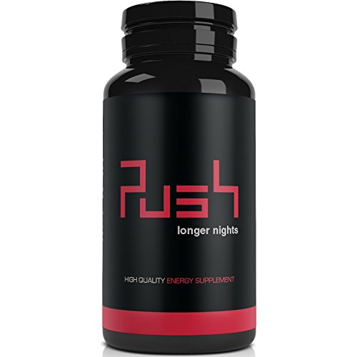 Push - Der Energy Booster | 60 Koffein-Tabletten | hochdosiert & vegan | Coffein, Guarana Extrakt, Grüner Tee Extrakt, Vitamin B3, Vitamin B12 | Made in Germany