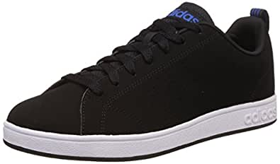 adidas neo Men's Advantage Clean Vs Cblack, Cblack and Blue Leather Sneakers - 8 UK/India (42 EU)