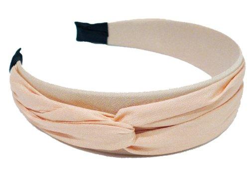 rougecaramel - Serre tête/headband/bandeau large couleur uni - saumon