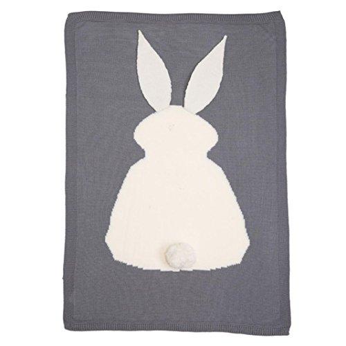 Overdose Kinder scherzt Kaninchen-Strickdecke-Bettwäsche Steppdecke-Spiel-Decke Tierwurf-Decke Krippe-Wrap-Decke 73 * 105cm / 28.7 * 41.3