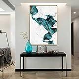 Xueyanwei Abstrakte Wandkunst Leinwand Bunte Grüne Drucke Auf Leinwand Bild Bilder Für Home Wall Hotel Büro Studie Dekoration Micro Spray Inner Gerahmt 1Panel