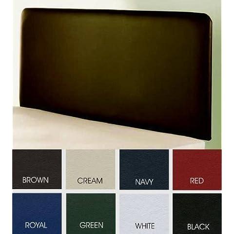 Classic Textiles - Cabecero para cama de matrimonio de piel sintética - Matrimonio, Verde