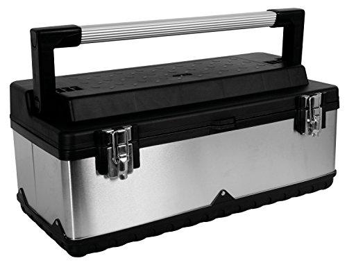 PEREL - OTBA7 Edelstahl-Werkzeugkasten, 590 x 280 x 275 mm 144793