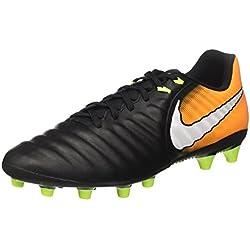 Nike Tiempo Ligera IV AG-Pro, Botas de fútbol para Hombre, Negro (Black/White/Laser Orange/Volt), 42.5 EU