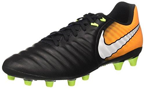 Nike Herren Tiempo Ligera IV AG-Pro Fußballschuhe, Schwarz (Black/White-Laser Orange-Volt), 43 EU - Männer Turf Für Schuhe Nike