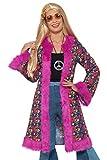 Smiffy 's 47389lx160s Hippie psicodélico abrigo, para mujer, Rosa, L a xl-uk tamaño 16–22