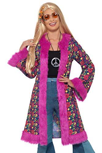 Smiffys SMIFFY 'S 47389lx160S Psychedelic Hippie Mantel, Damen, Pink, L xl-uk Größe 16-22