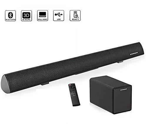 Soundbar 80W subwoofer Bluetooth 2.1 Eco Altavoz Pared