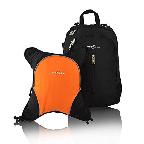 obersee-zaino-fasciatoio-rio-con-borsa-termica-removibile-nero-arancione