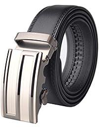 Sceneruo Cinturón de lujo para hombre Cinturones de cuero reales para  hombre Marca automática 100% 7914e7157b74