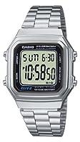 Casio Collection – Reloj Unisex Digital con Correa de Acero Inoxidable – A178WEA-1AES