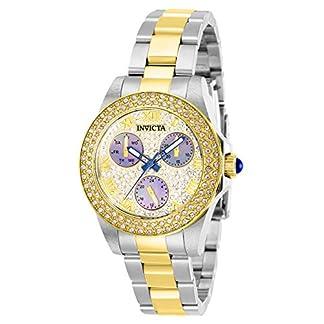 Invicta 28475 Angel Reloj para Mujer acero inoxidable Cuarzo Esfera oro