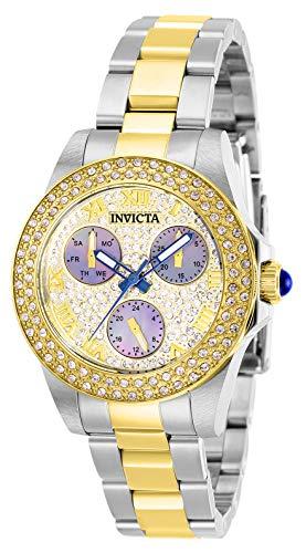 Invicta 28475 Angel Women's Wrist Watch stainless steel Quartz Gold Dial