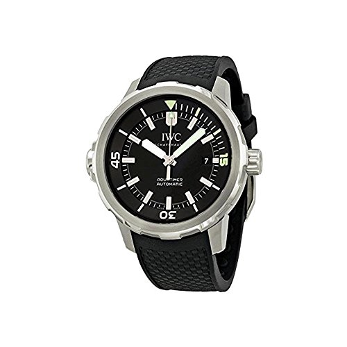 IWC MEN'S 42MM BLACK RUBBER BAND STEEL CASE AUTOMATIC ANALOG WATCH IW329001