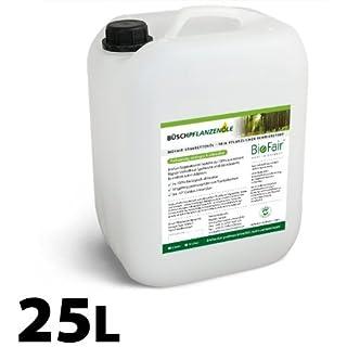 BioFair® Sägekettenöl 25 Liter aus 100% reinem Rapsöl-Vollraffinat - GRATIS VERSAND