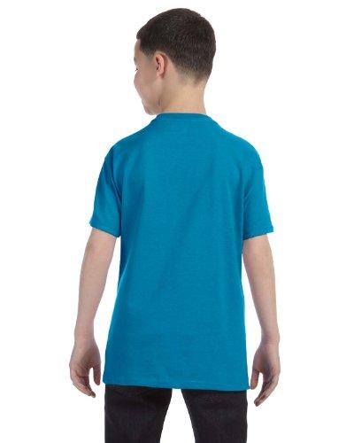 Zirkus Serie - BŠrtige Dame auf American Apparel Fine Jersey Shirt Blaugrün