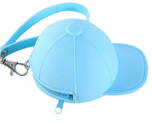 wicemoon Münze Tasche Silikon Candy farbigen Baseball Mützen Geldbörse Schlüssel Cases WALLET Reißverschluss Handtasche Münze Tasche für wasserdichte Tasche Geld Tasche blau (Candy Geldbörsen)