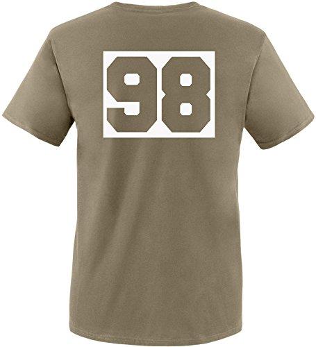 Luckja Wunschnummer T-Shirts für Damen und Herren Herren/Oliv/Weiss