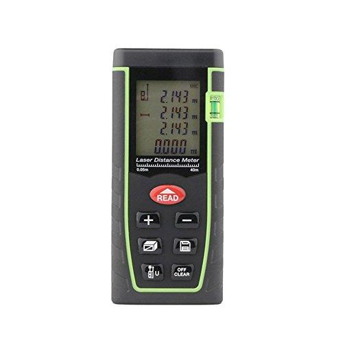 MCTECH Digitaler Laser-Entfernungsmesser Distanzmessgerät Distanzmesser RZ-T40 Für Distanz & Winkelmessung, Bereich & Volumenberechnung (0,05-40 m Messbereich, +/- 2 mm Messgenauigkeit) -