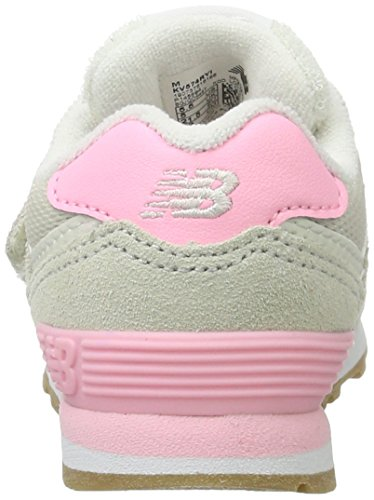 New Balance 574 Velcro, Formateurs Mixte Enfant Rose (Fuschia)