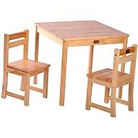 Preisvergleich für Boss s TikkTokk Children'Tisch und Stuhl Set mit Hochglanzlack, natur