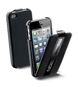 Momodesign MOMOFLIPHONE5BK Housse à Clapet pour iPhone 5 Noir