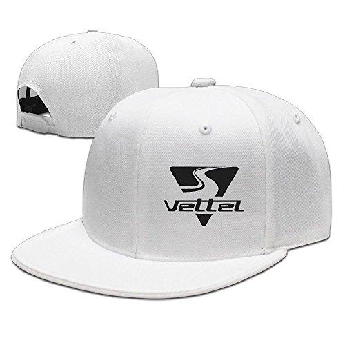 hittings Sebastian Vettel Unisex Fashion Cool Adjustable snapback Baseball Cap Hat One Size White