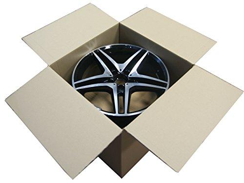 """Preisvergleich Produktbild 1 Stück Felgenkarton für Zwei Felgen mit Trenblatt 15"""" 420mm x 420mm x 460mm / Karton / Felgen / Reifen / Reifenkarton / Faltkarton / Rad / New / complete / wheel / cardboard / Versand / Lagerung / Werkstatt / Alufelgen / Stahlfelgen / Zoll / Inches / Verpackung / package / Pappekarton / haltbar / carton / Rims / packing / sending / Transport / store / safe / sicher / Neu /"""