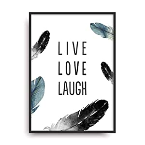 Fine Art Kunstdruck LIVE LOVE LAUGH Poster Print Plakat moderne Vintage Deko Bild ohne Rahmen DIN A4 Geschenk