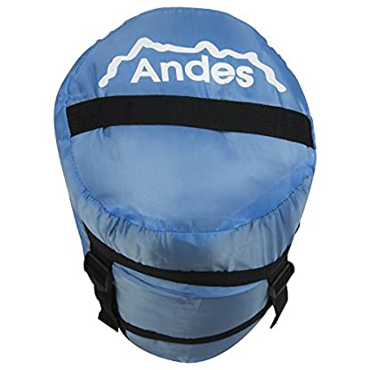 Andes Pichu 300 2-3 Season Childrens/Kids Camping Sleeping Bag, 300GSM Filling - Compression Carry Bag Included, Ideal For Camping, Cubs, Scouts, Guides 5