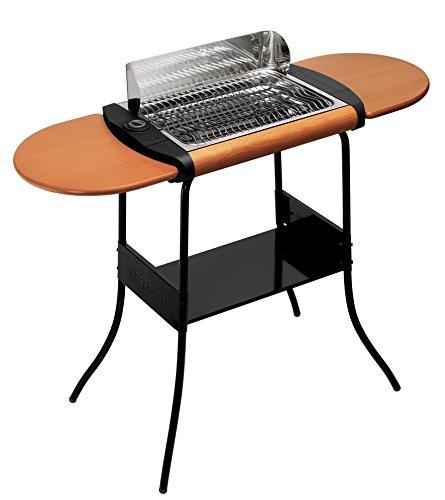 Lagrange 319003 Barbecue Grill Concept Deluxe Sur pieds Tablettes amovibles en bois