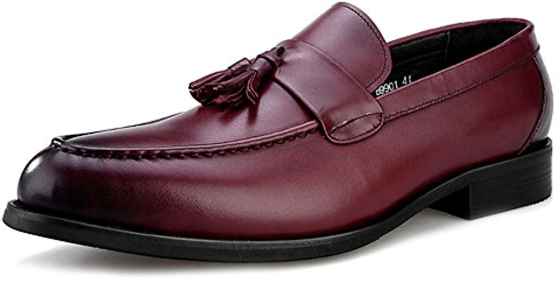 MERRYHE Herren Leder Oxfords Schuhe Kleid Loafers Business Wohnung Fahr Schuhe Für Männer Walking Mokassins Deck