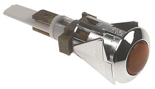 BFC Signallampe für Kaffeemaschine Junior-Extra orange ø 16mm 230V Anschluss Faston 6,3mm