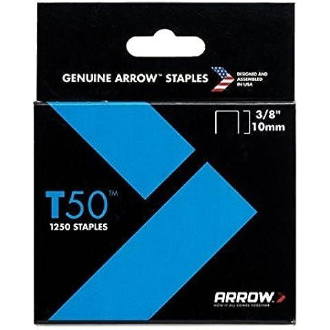 Arrow - T50 Staples 10mm (3/8in) Box 1250 - ARRT5038S by Arrow Fasteners