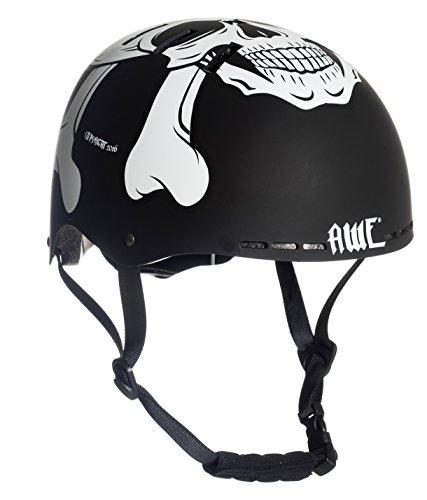 AWE® MEET YOUR MAKER™ BMX Helm Schwarz 55-58cm FREIES 5 JAHR CRASH ERSATZ *