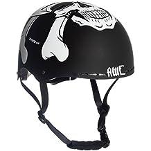 AWE® MEET YOUR MAKER™ BMX Negro 55-58cm del casco REEMPLAZO LIBRE de 5 AÑOS del CRASH *