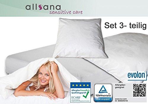 Allsana Allergiker Bettwäsche Encasing Set für Kinder 3-teilig: 40x60 100x135 70x140x12