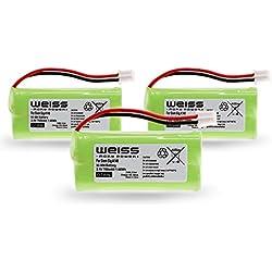 Blanc Batterie pour Siemens gigaset A12A120A14A140AS140al4h A145AS15A160A165A240A24A245A260A26A265Q063/T-Com Sinus 100/univers CL15SL15[remplace: sl610h K1310V30145-K1310-X383, 4250366817255-X1, etc. D1640] 700mAh Ni-Mh