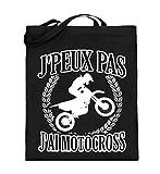 Chorchester J'peux pas J'ai Motocross Moto - Sac de jute manche long
