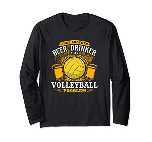Biertrinker mit Volleyball-Problem! Lustiger Volleyball Langarmshirt -