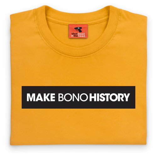 Make Bono History T-Shirt, Damen Gelb