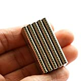 BestPriceEver 100 Pieces of 4mm X 1.5mm Magnets Nickel Coated Round Premium Brushed Refrigerator Magnet For Science And School Projects