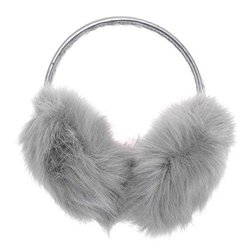 ZLYC Klassischer Damen Mädchen Winter Ohrenschützer Ohrenwärmer aus Fauxfell Mit Verstellbarer PU - Band