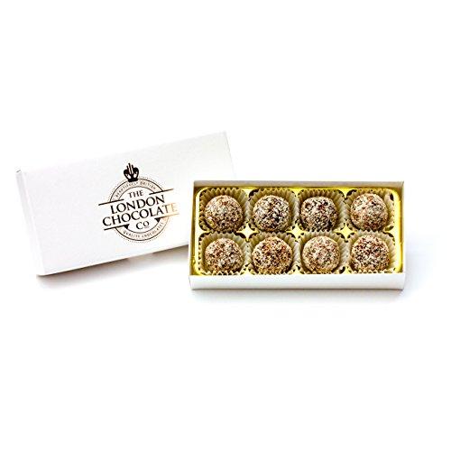 The London Chocolate Company - Vegan Friendly Dark Chocolate Coconut Truffles Gift Box, 110g