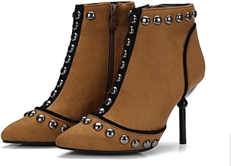 Mujeres 9cm Remaches acentuados Remaches de cuero sintético Botines cortos / Botas de tobillo Moda Color puro...